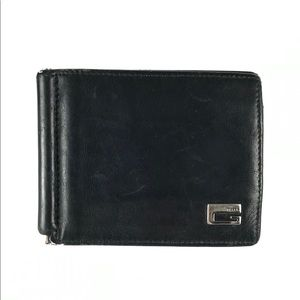 GUCCI Leather Money Clip Wallet